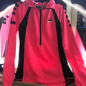 pink/victoria's secret half zip jacket
